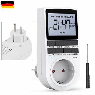 DE Zeitschaltuhr Steckdose Timer LCD-Digital Zeitschalter Wochenzeitschaltuhr