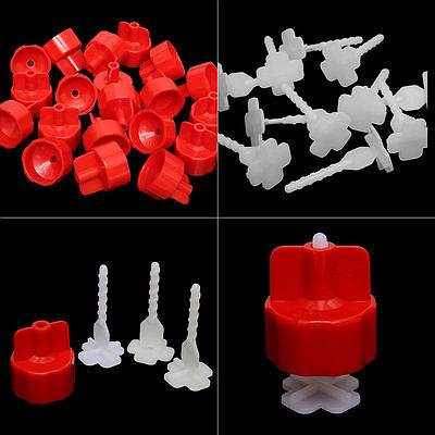 100/200pcs Tile Flat Leveling Tiling System Wall Floor Spacers Strap Caps