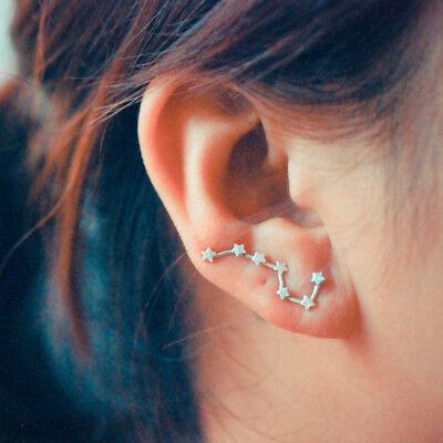 Star Constellation Ear Climber, Ear Crawler, Sweep Earrings - Boho Hippie - Hippie Earrings