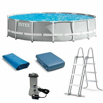 NEW Intex 26723EH 15ft x 42in Prism Frame Swimming Pool w/ Pump + Ladder + Cover