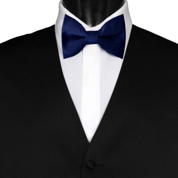 HDE Mens Wedding Party 5-Pack of Solid Color Formal Adjustable Pre-Tied Tuxedo Bow Ties White
