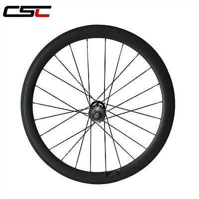Csc 50Mm Clincher Carbon Track  Fixed Gear Rear Wheel Only