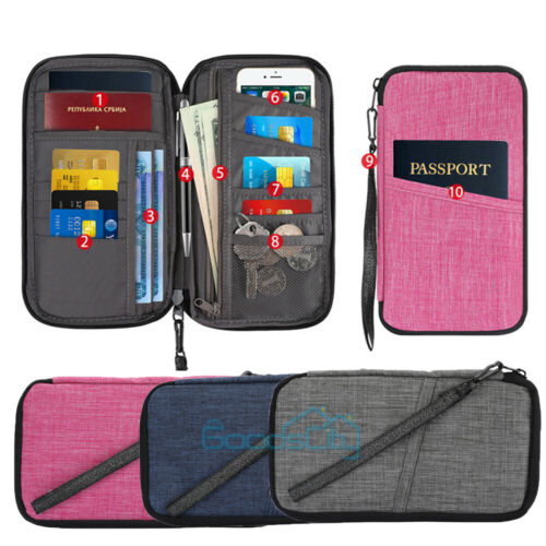 Unisex Waterproof Credit ID Card Storage Bag Travel Wallet Passport Holder Pouch - $10.71