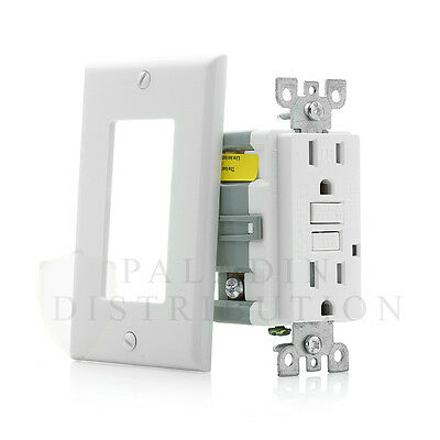 15A Amp GFCI GFI Tamper Resistant Safety Outlet Receptacle w/ LED - UL 2008 TR