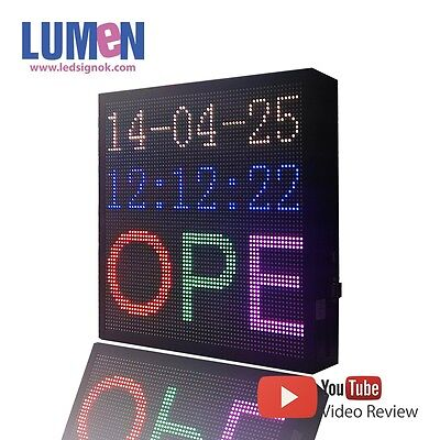 14 X 14 Led Sign Rgb 7 Color Programmable Scrolling Indoor Message Board P5