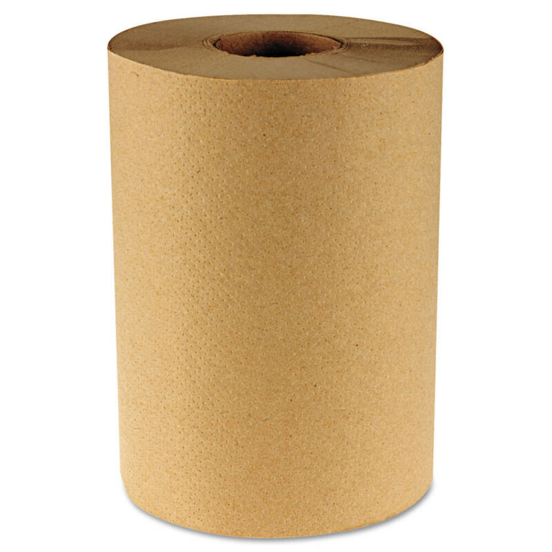 Boardwalk 6252 12 RL/CT 1-Ply 8 in. x 350 ft. Hardwound Paper Towels - Nat New
