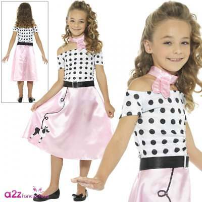Girls 50s Poodle Girl Costume Childs Rock