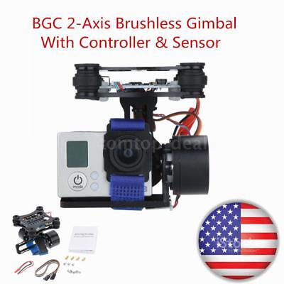 Drone CNC FPV BGC 2 Axis Brushless Gimbal +Controller for DJI Camera W3Q8