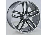 LATEST 19'' AUDI RS6 STYLE ALLOY WHEELS X4 BOXED 5X112 A4 A5 A6 A7 A8 Q3 VW