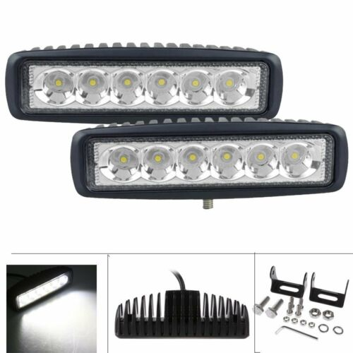 Led - 2x 7INCH 36W CREE LED WORK LIGHT BAR SPOT OFFROAD ATV FOG TRUCK LAMP 4WD 12V 6""