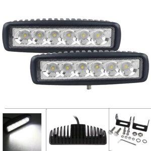 6 led light bar ebay 2x 7inch 36w cree led work light bar spot offroad atv fog truck lamp 4wd 12v mozeypictures Choice Image