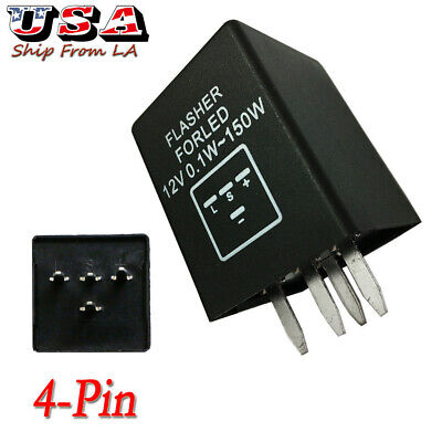 4-Pin EP29 EP29N LED Flasher Relay Fix For LED Turn Signal Lamps Hyper