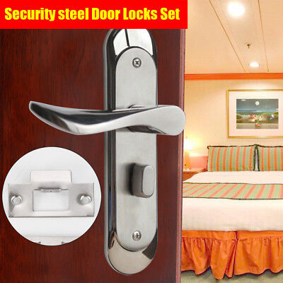 Safe Privacy Entry Door Locks Set Security Lever Mortise Stainless Steel Handle ()
