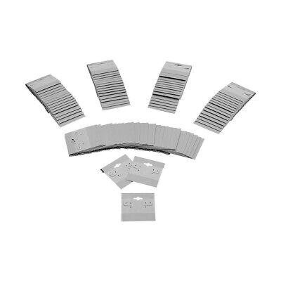 Grey Plastic Earring Card Hang Jewelry Display Plain Cards 500 Pc 2 X 2