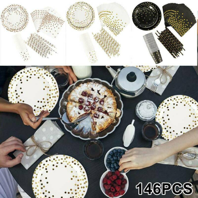 146pc Party Tableware Dinnerware Party Supplies Paper Tray P