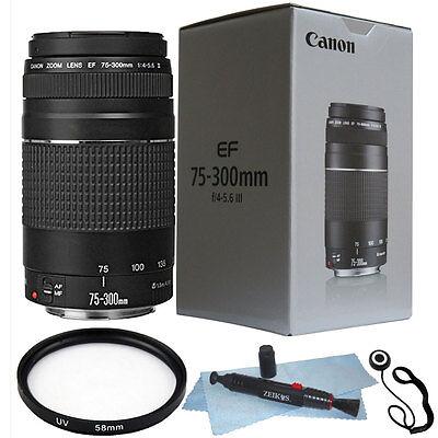 Canon EF 75-300mm f/4.0-5.6 III Lens + 58mm  Kit