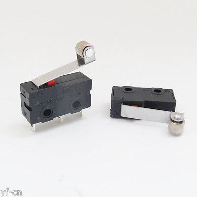 10x Mini Micro Switch Metal Roller Lever Limit Switch N.on.c 5a 125v 20x10mm Us