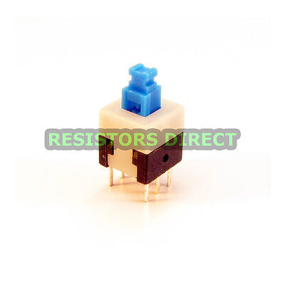20x Dpdt 8x8mm 0.5a 50v Push Button Latching Tactile Switch Onoff 20pcs C38