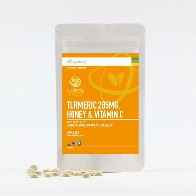 Biovit Turmeric & Honey With vitamin c, Immune Health, Vegetarian, , 60 tablets
