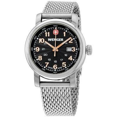 Wenger Urban Classic Black Dial Stainless Steel Ladies Watch 011021106