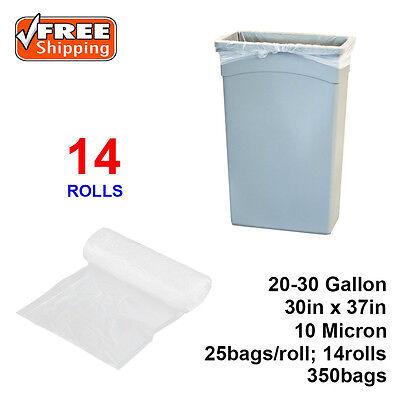 "20-30 Gallon 10 Micron 30"" x 37"" High Density Can Liner / Trash Bag - 350 /Case"
