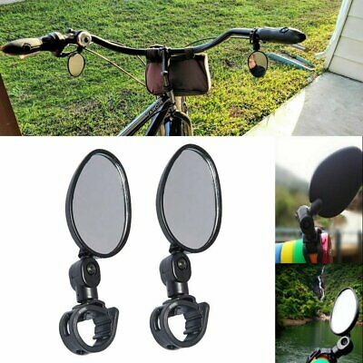 2-Pack Mini Rotaty Handlebar Glass Rear view Mirror for Road Bike Bicycle US Bicycle Accessories