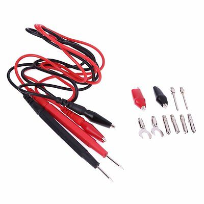 1set 16 Multifunction Digital Multimeter Probe Test Lead Cable Alligator Clip