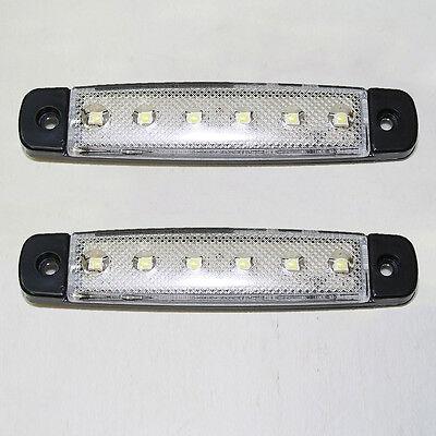 2 X 6 SMD LED Umrißleuchte Begrenzungsleuchte Positionsleuchte LKW PKW 12V Weiss