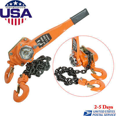 New 1.5 Ton 3000lb Capacity Chain Lever Block Hoist Come Along Ratchet Lift Us