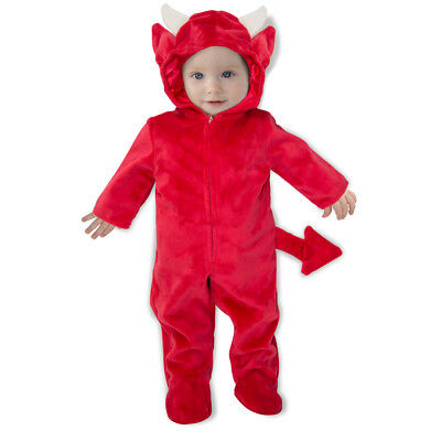 Newborn Baby Devil Romper Halloween Costume](Devil Baby Costume)