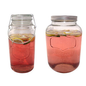Litre Glass Screw Top Jar