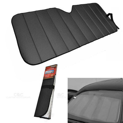 New Black Car Truck Front Windshield Accordion Folding Sun Shade Jumbo Size - Giant Escape Hybrid