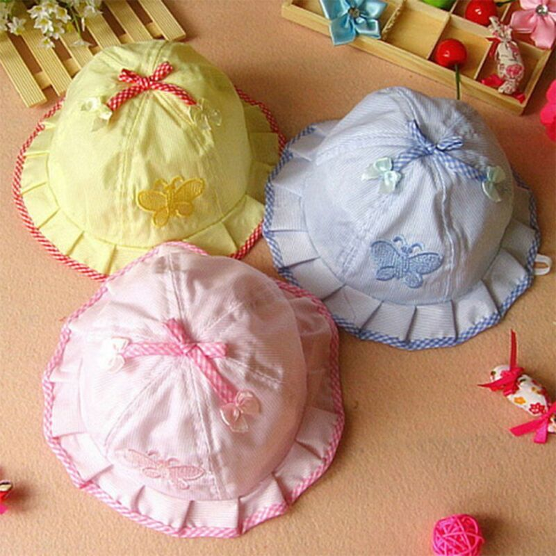 Kids hats Caps For Girls Bow-knot Infant Sun Hats Baby Butte