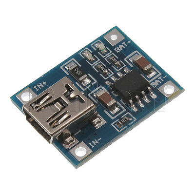 2pcs New 5v 1a Microusb 18650 Lithium Battery Charging Module For Arduino