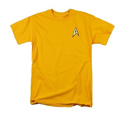 STAR TREK COMMAND UNIFORM Licensed Adult Men's Graphic Tee Shirt SM-5XL - Star Trek Uniform Shirts