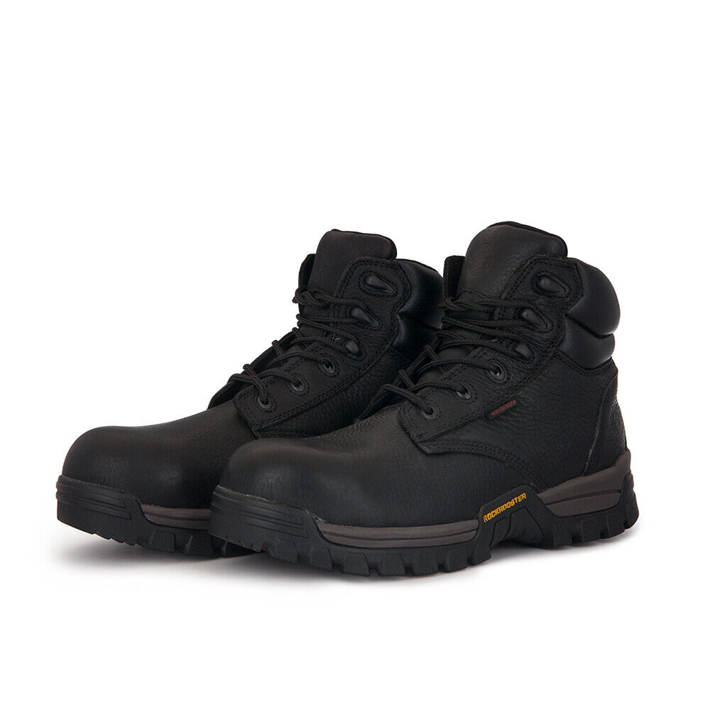 Men's Work Boots Composite Toe Safety Waterproof Shoes Punct