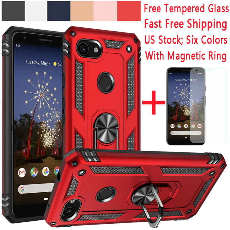 For Google Pixel 3a/4 XL Shockproof Armor Case Cover+Magneti