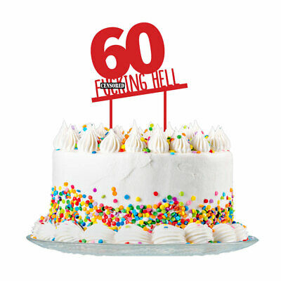 60th Birthday Cake Topper Party Decorations 60 Today For Men & Women 3mm - Cake Decorations For 60th Birthday