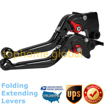 For Honda NT650 Hawk GT 1988-1991 Folding Extend Clutch Brake Levers BK US 89 90