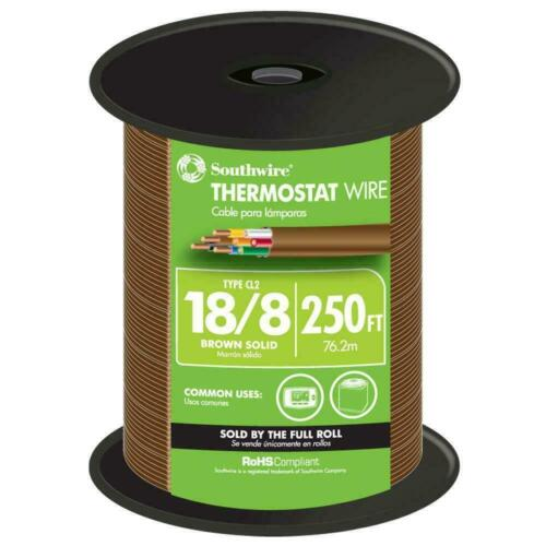 Southwire Thermostat Wire 250 ft. 18/8 Solid Copper Jacketed Brown - 65676944