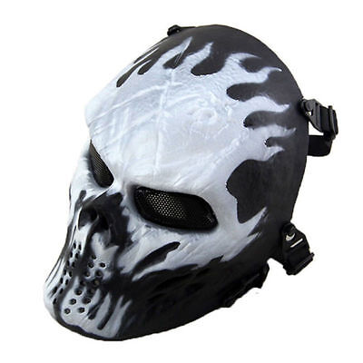 Protection Gear Tactical Game Airsoft Paintball Full Face Skull Mask Halloween