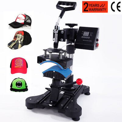 "6"" x 3"" Cap Hat Heat Press Machine Heating Transfer Machine DIY Print Pattern"