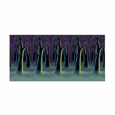 Halloween SPOOKY FOREST TREES BACKDROP Party decoration PHOTO BOOTH 48
