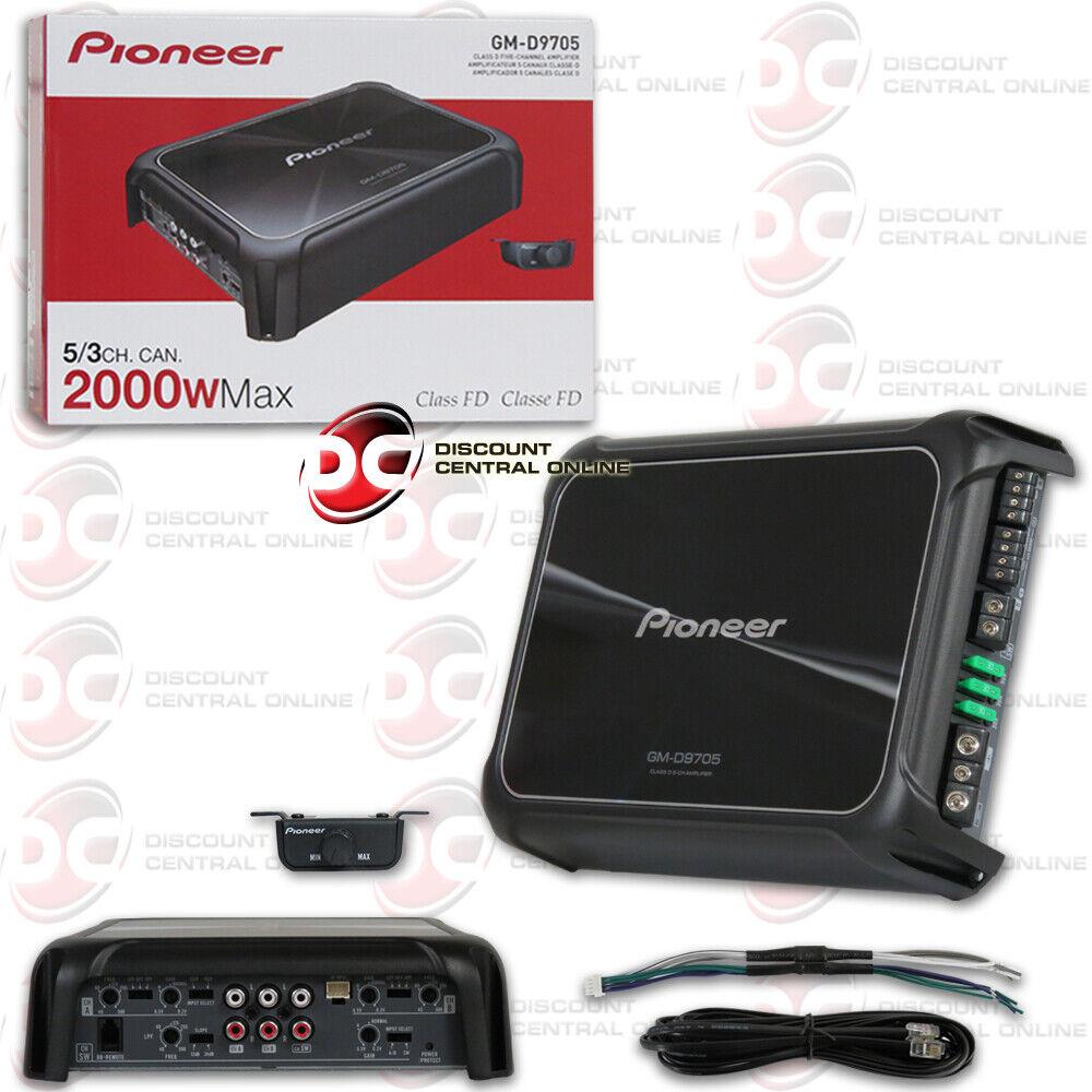 PIONEER GM-D9705 CAR AUDIO 5-CHANNEL BRIDGEABLE AMP AMPLIFIE