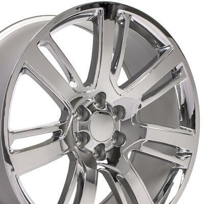 24x10 Chrome Wheels Fit GM Trucks Cadillac Escalade Style Rims 4738 SET