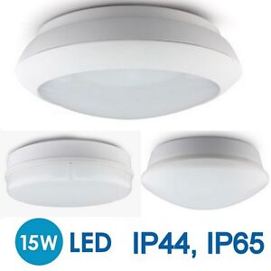 15W LED Round 2D Bulkhead Wall Ceiling Light Indoor Outdoor Microwave PIR Sen