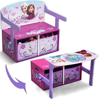 Sitzbank Spielzeugkiste Kinder Schreibtisch Frozen 3 in 1 Kindermöbel