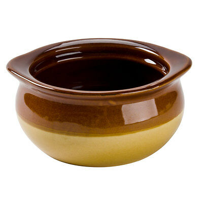 Core 12 oz. Brown and Ivory Onion Soup Crock / Bowl Set of 4