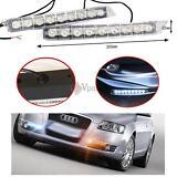 2pcs 12v Audi Style 9 LED Daytime Running Light DRL Fog Lamp Day Lights Daylight