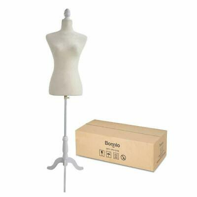 Female Dress Form Pinnable Mannequin Body Torso With Wooden Tripod Base Stand